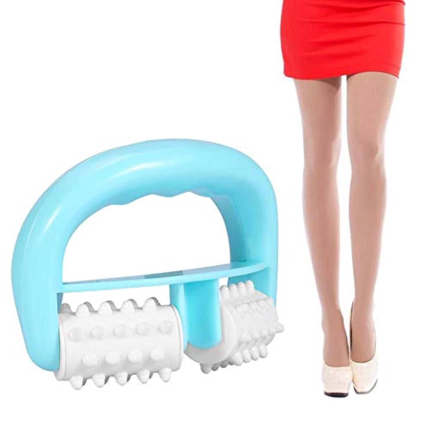 バトル朝食を食べるまだらHandle Cell Roller Massager Mini Wheel Ball Slimming Body Leg Foot Hand Neck Fat Cellulite Control Pain Relief...