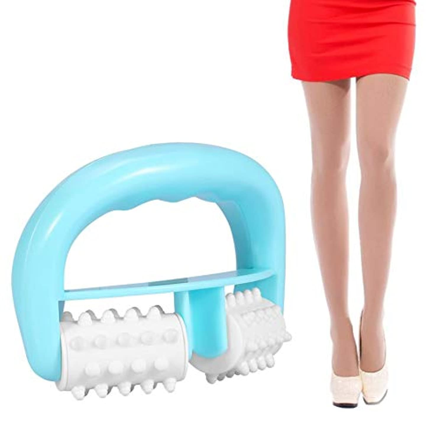ふりをする適度に嘆くHandle Cell Roller Massager Mini Wheel Ball Slimming Body Leg Foot Hand Neck Fat Cellulite Control Pain Relief...