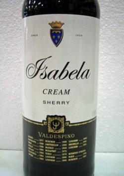 シェリー酒 バルデスピノ・イザベラ クリーム Valdespino