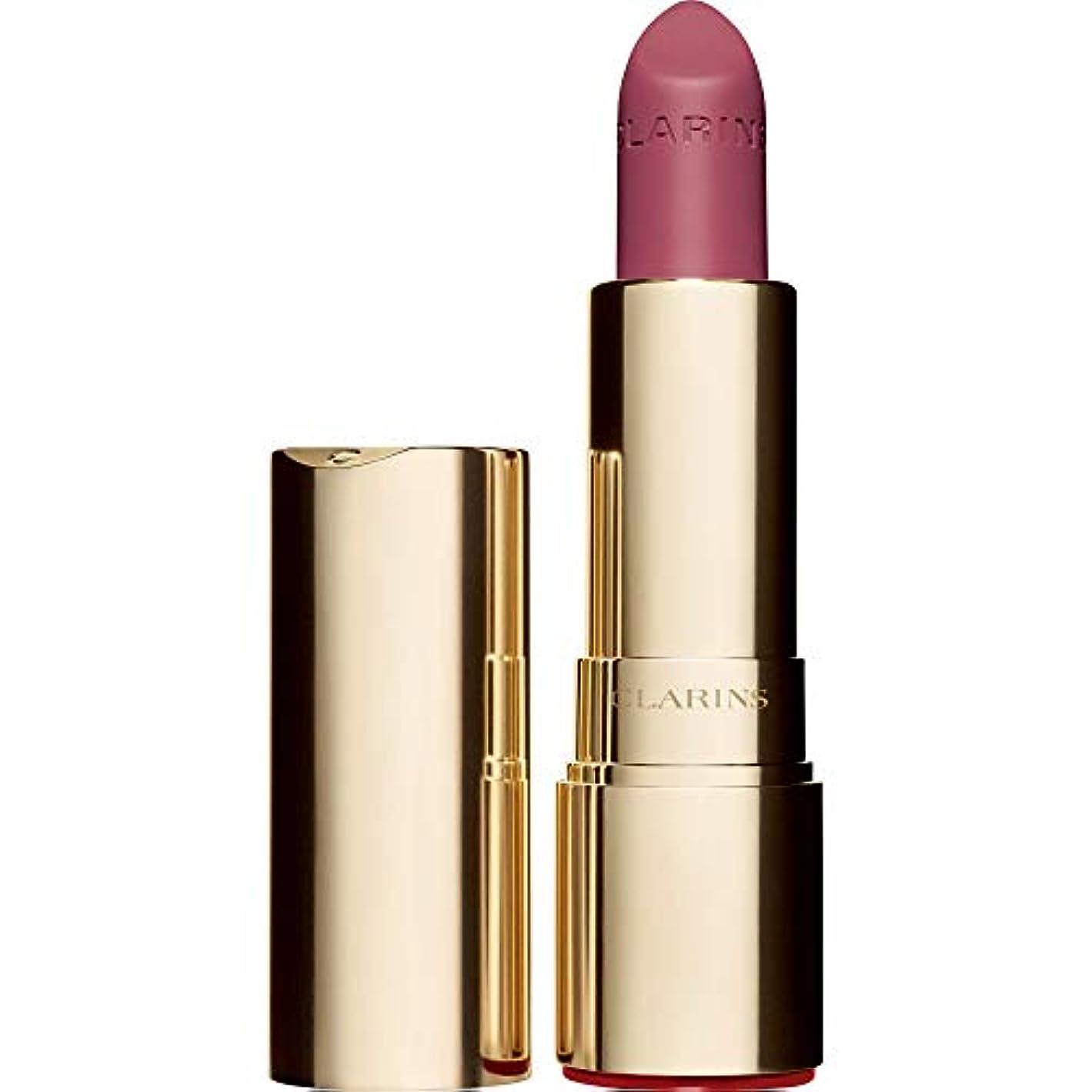 [Clarins ] クラランスジョリルージュのベルベットの口紅3.5グラムの755V - レイシ - Clarins Joli Rouge Velvet Lipstick 3.5g 755V - Litchi [並行輸入品]