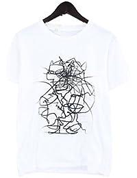 (エヌハリウッド)N.HOOLYWOOD 【151-CS20】グラフィックプリントTシャツ(36/ホワイト) 中古