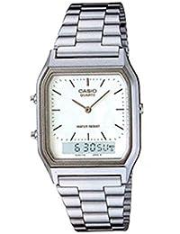 CASIO(カシオ) AQ-230A-7D/AQ230A-7D アナデジ メタルベルト シルバー シルバーダイアル ユニセックスウォッチ 腕時計 [並行輸入品]