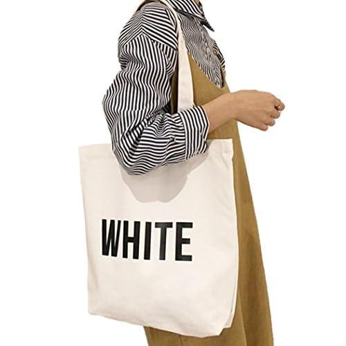 (ラウンドアース) Round Earth キャンバス バッグ 英字 カラー ロゴ が かわいい 折り畳めば コンパクト で 便利 ホワイト