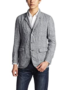 Washed Linen 3-button Jacket 117-01-1970: Grey