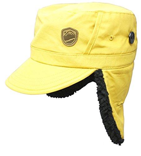 eb's (エビス) スノーボード 帽子 NYLON WORK CAP YELLOW ナイロンワークキャップ スノーボード