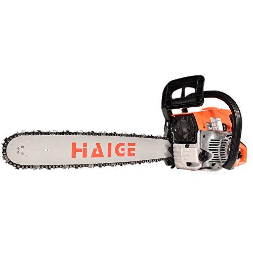 HAIGE チェーンソー チェンソー 20インチ(50cm) 排気量:52cc 2サイクル 3馬力 HG-F5200