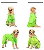 ゴールデンレインコート犬柴犬サモエドミディアムラージドッグサイド動物飼育オールインクルーシブ4フィートペット防水ビッグドッグ服