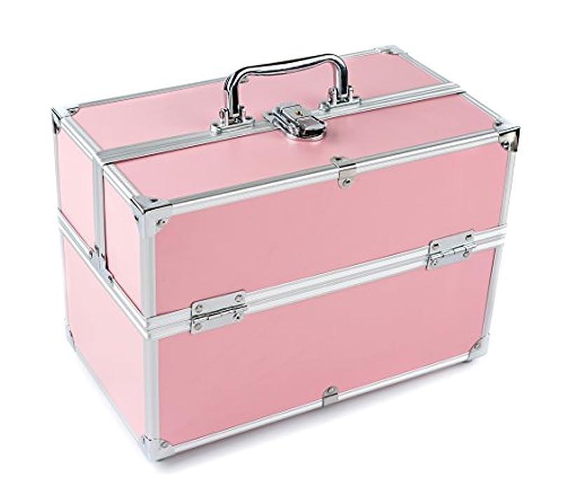 GOGOS コスメボックス 大容量 かわいい プロ 人気 アルミ制 コスメBOX メイクボックス 化粧道具入れ 化粧品収納 取っ手付 祝日プレゼント