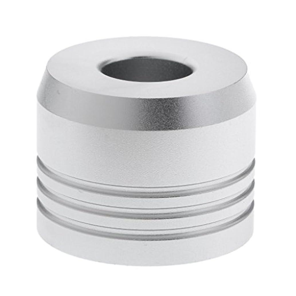 化石グラス独立してカミソリスタンド スタンド シェービング カミソリホルダー ベース サポート 調節可 乾燥 2色選べ - 銀