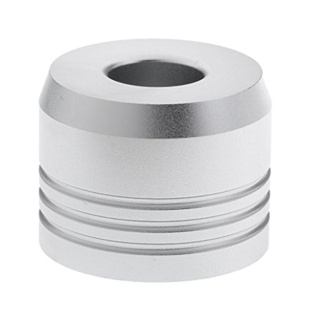 再発するやけど悲惨なカミソリスタンド スタンド シェービング カミソリホルダー ベース サポート 調節可 乾燥 2色選べ - 銀