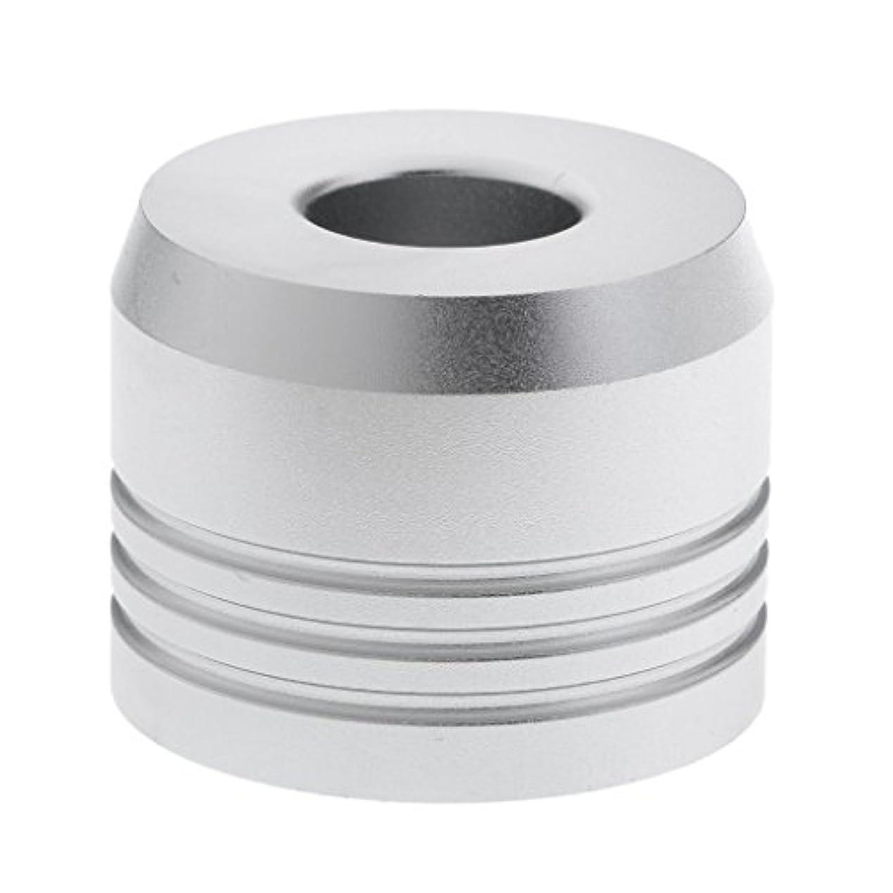 タンカー流暢信じるカミソリスタンド スタンド シェービング カミソリホルダー ベース サポート 調節可 乾燥 2色選べ - 銀