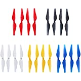 Anbee 5-Colors Propellers Colored Props Blades for Tello Drone, Pack of 5 Set (Red / White / Blue / Black / Yellow)