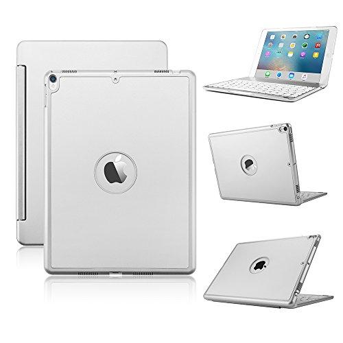iPad pro 10.5 キーボード KVAGO iPad pro 10.5 ケース スタンド オートスリープ機能 ワイヤレスbluetoothキーボード アルミ合金製7色バックライト付 キーボードケース iPad 10.5インチ対応