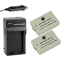 DSTE® アクセサリーキット Canon BP-110F 互換 カメラ バッテリー 2個+充電キット対応機種 iVIS HF R21 R205 R206 R26 R27 R28 R200 R21