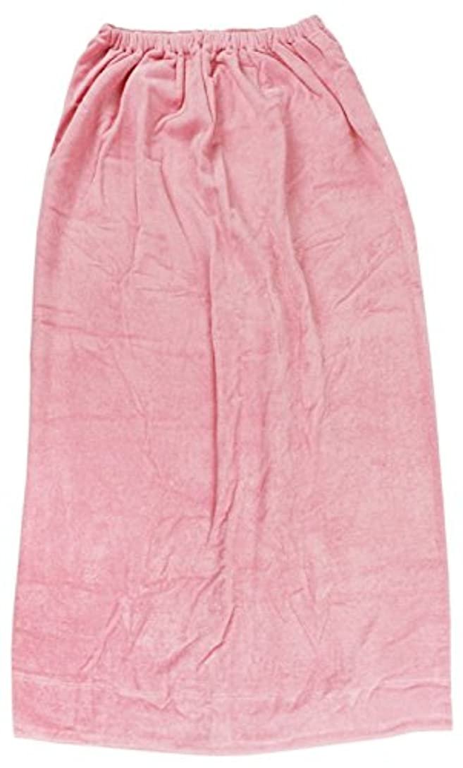林(Hayashi) ラップタオル ピンク 約100×120cm シャーリングカラー 無地 MD454822