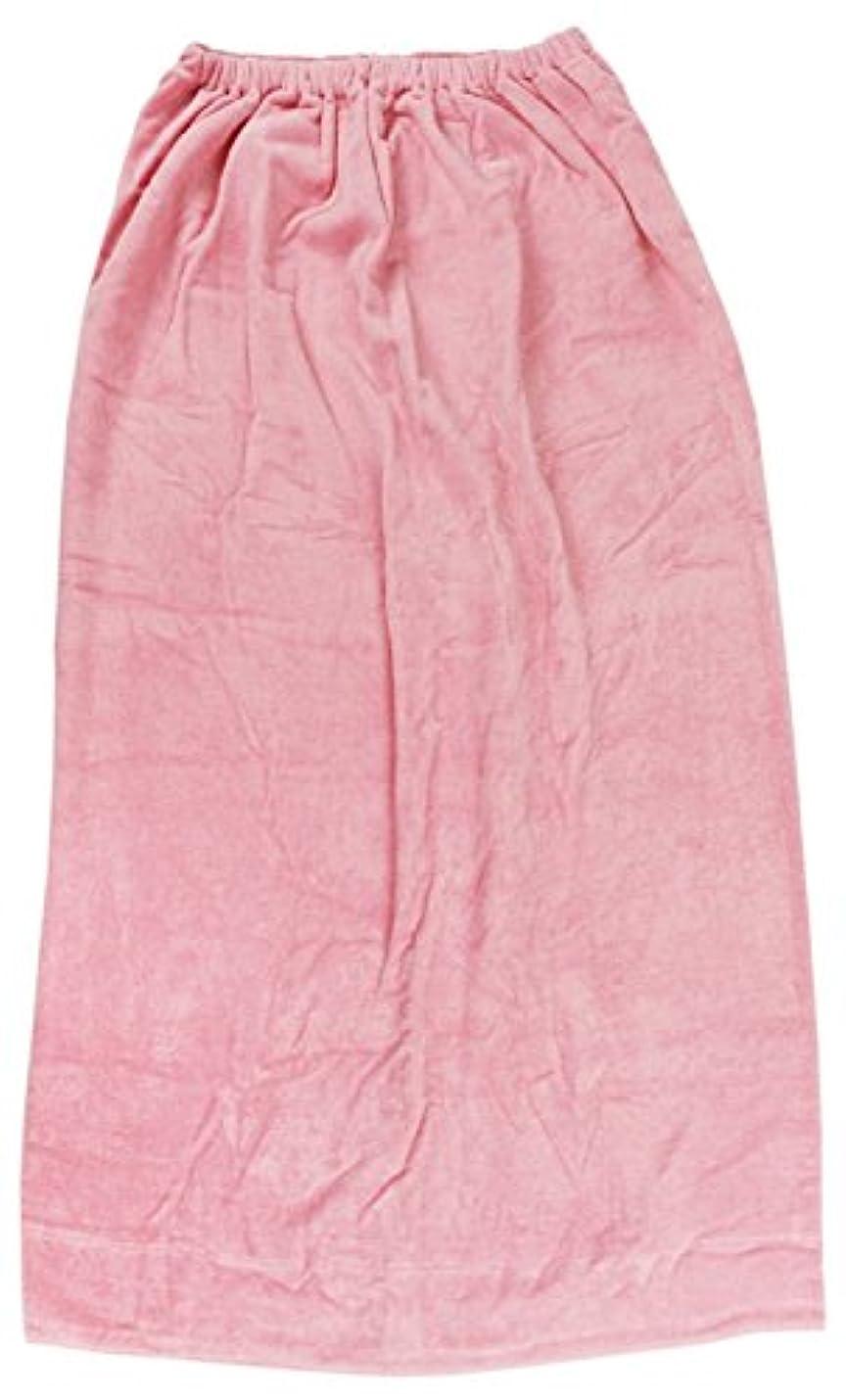 ナット抑圧者かんたん林(Hayashi) ラップタオル ピンク 約100×120cm シャーリングカラー 無地 MD454822