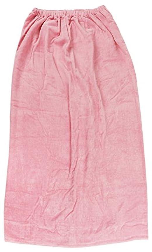 寸前保安特権的林(Hayashi) ラップタオル ピンク 約100×120cm シャーリングカラー 無地 MD454822