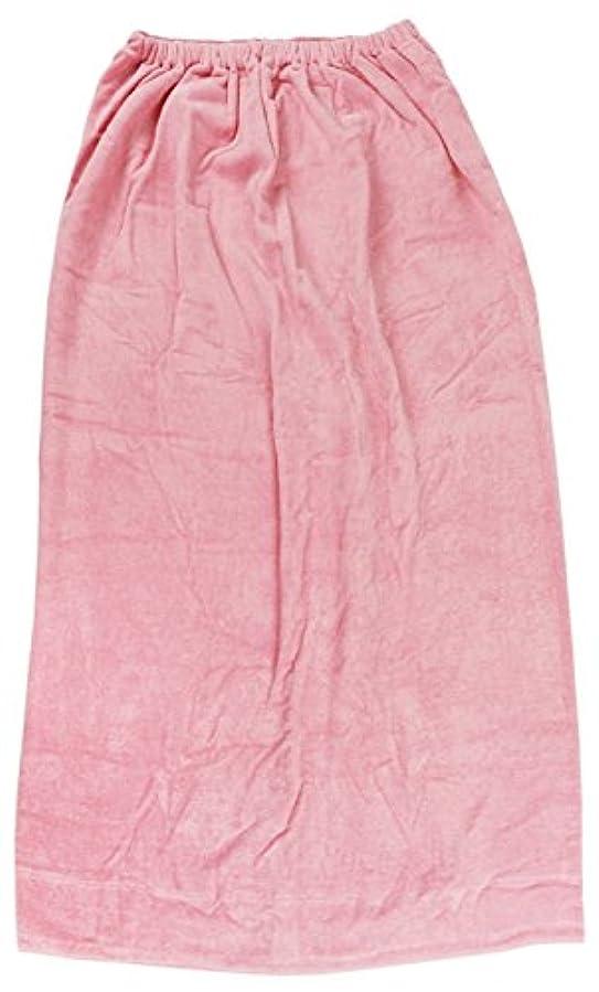 シュリンク逆に血まみれの林(Hayashi) ラップタオル ピンク 約100×120cm シャーリングカラー 無地 MD454822