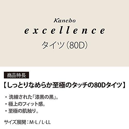 エクセレント JXタイツ M‐L 80デニール ピュアブラック 袋1足