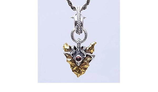 d018cc1cc4d25f Amazon   牙狼(GARO-ガロ)×プラネットパラミータ 月の欠片ペンダント 道外流牙着用 ガーネット   ネックレス・ペンダント 通販