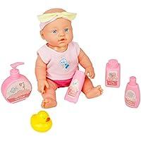 Girls人形Bath Toys Pretend Play GameおもちゃソフトボディおもちゃBath Fun人形Accessories for Kids Girls Boys Above 3 Years Old