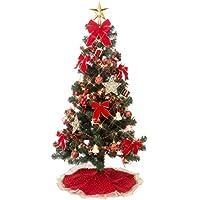 クリスマス屋 クリスマスツリー クリスマスツリーセット 120cm オーナメント レッドゴールド セットツリー