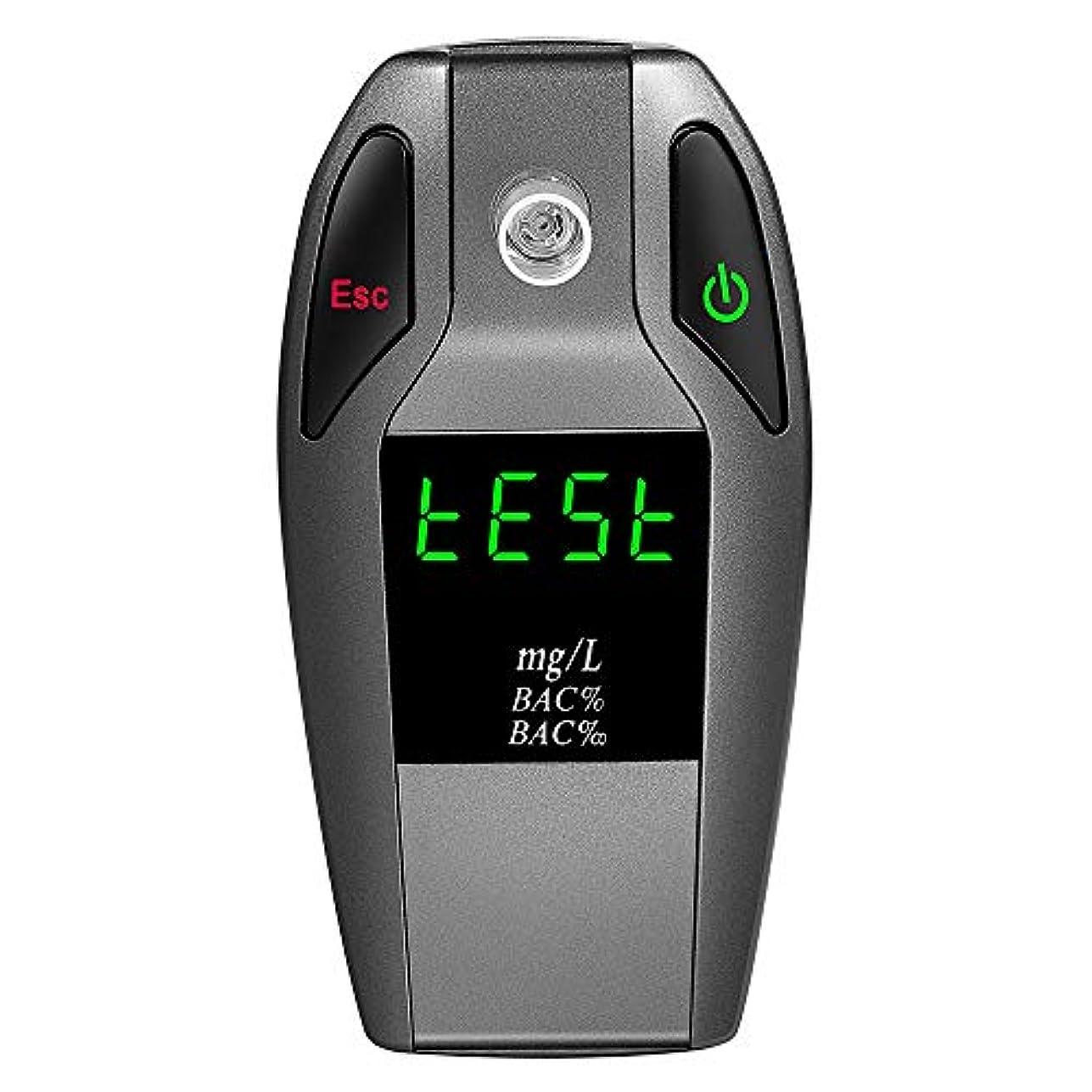 不満一晩有益なROEAM プロフェッショナルポータブルデジタルアルコール検知器 ポータブル飲酒検知器 電気化学式アルコールチェッカー アルコールテスター においチェッカー ブレスチェッカー アルコール探知機 アルコール検査 アルコールセンサー 息吹き式 亜鉛合金 5ピース透明マウスピース付き LEDスクリーン EK911