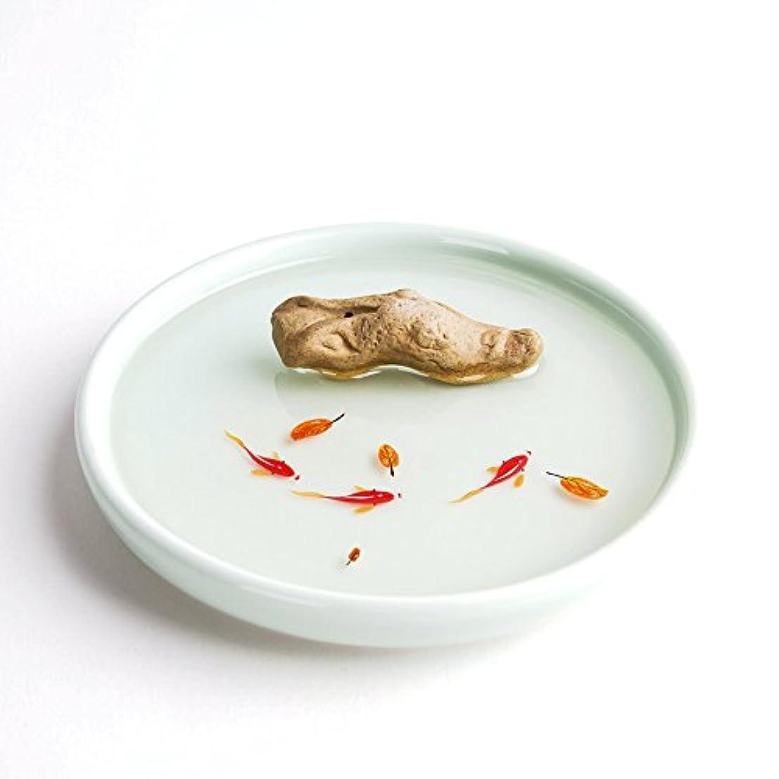 形状なだめる代表するお香立て お香たて 香の器 お香を焚いて 香皿,陶磁器、白