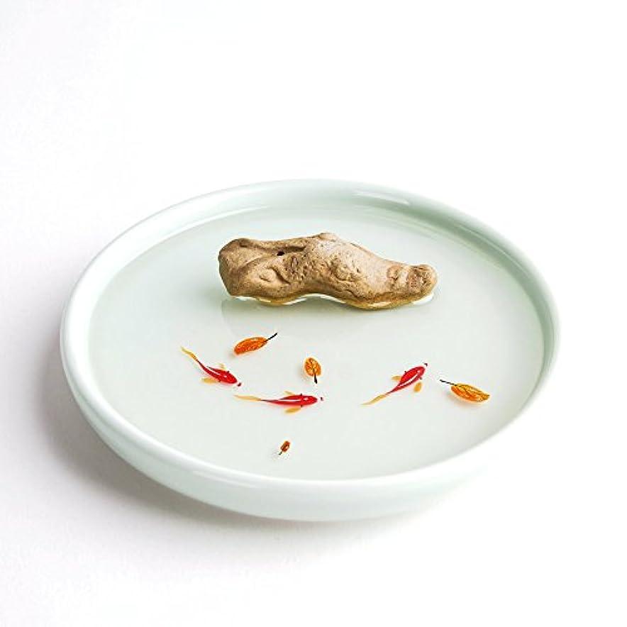 植木朝食を食べる試みるお香立て お香たて 香の器 お香を焚いて 香皿,陶磁器、白