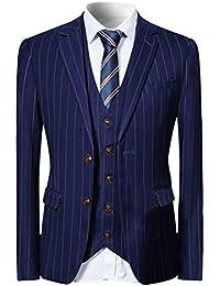 YFFUSHI スーツ メンス スリーピース 1つボタン 2つボタン XS-5XL ストライプ チェック 長袖 全10色 着心地抜群 カジュアル スリム 四季 ファッション 大きいサイズ