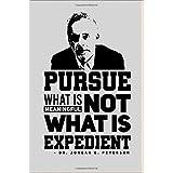 Jordan Peterson: Pursue What is Meaningful not what is Expedient: Jordan Peterson Appreciation Motivational 6 x 9 Journal/Not
