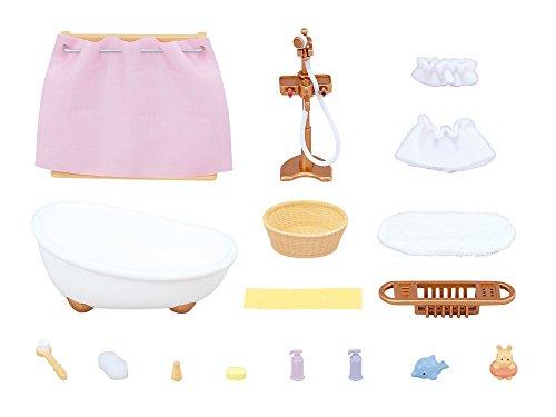 New Sylvanian Families Calico Critters Dolls Ka-605 Bath Set Japan