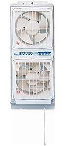 高須産業 窓用換気扇ツインファン 同時給排形  FMT-200P