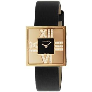 [ティファニー]Tiffany&Co. 腕時計 Atlas Cocktail Square Lady K18RG 革ベルト Z1950.10.30E10A40E レディース 【並行輸入品】