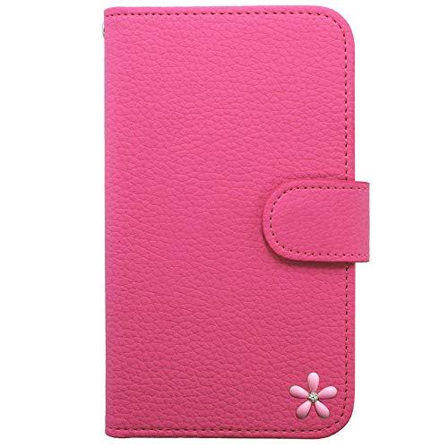 Apple iPhone XR アイフォン XR ケース 手帳型 ケース スマホ ケース カバー 全機種対応 ピンク 花 はな 飾 キラキラ 可愛い 国内生産 Pink [ixr04daswsc09cf]