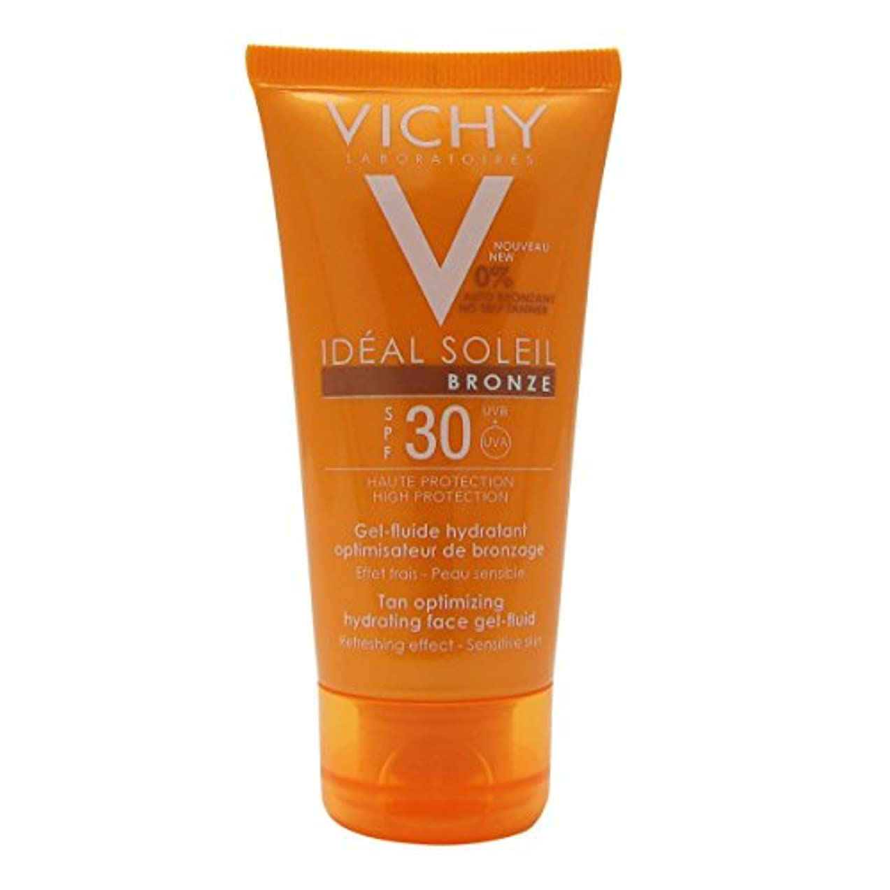 境界仮定クライアントVichy Capital Soleil Ideal Soleil Tan Optimizing Hydrating Face Gel-fluid Spf30 50ml [並行輸入品]