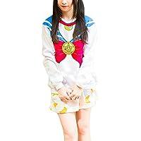 Harajuku Sailor Moon Lolita Cosplay Sweatshirts Cute Bow-knot Fleece Pullover Hoodies