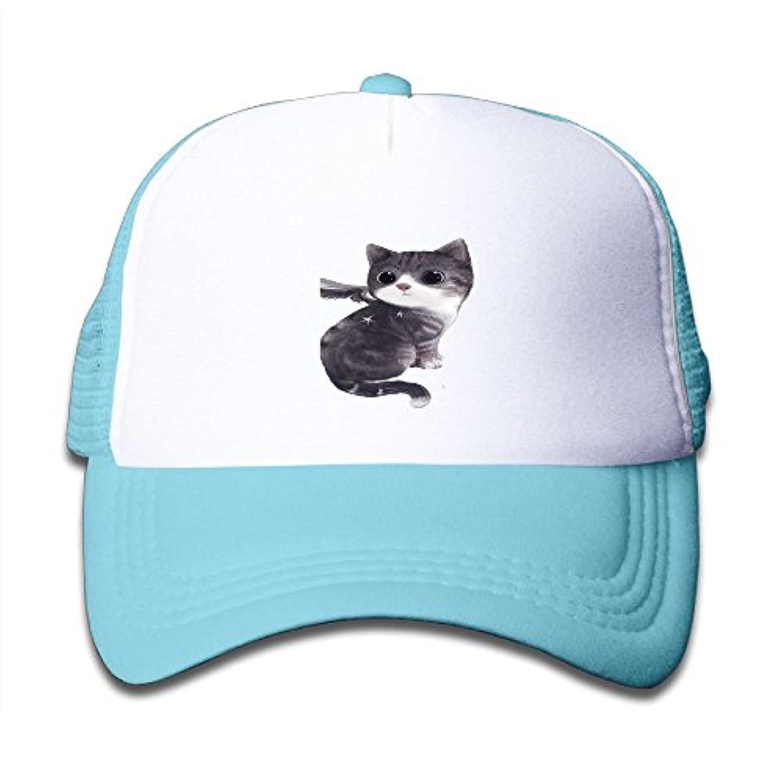 可愛い 猫 素敵 かわいい おもしろい ファッション 派手 メッシュキャップ 子ども ハット 耐久性 帽子 通学 スポーツ