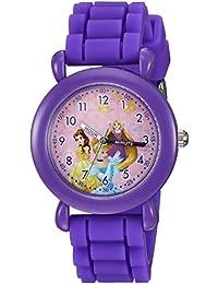 ディズニーGirl 'sシンデレラ、Belle ' QuartzプラスチックとシリコンCasual Watch , Color :パープル(モデル: wds000016 )