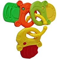 Widdle Wascals Silicone Baby Teether Keys - BPA Free Teething Toy - Keeps Babies Happy, Soothes Sore Gums - Great For Development by Widdle Wascals