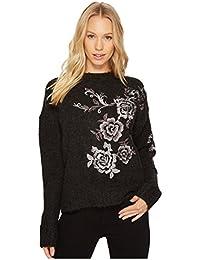 [ブランクニューヨーク] レディース ニット&セーター Floral Embroidered Grey Sweater in Charc [並行輸入品]