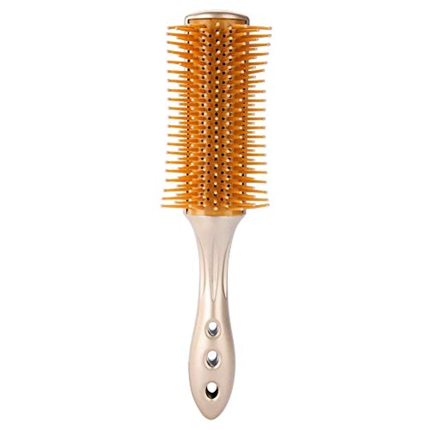 許す聖書豊富男性オイルヘッド櫛、ラウンドヘアブラシヘアマッサージ 帯電防止ヘアマッサージ 理髪スタイリングツール すべての髪のタイプのプロの美容スタイリングツール
