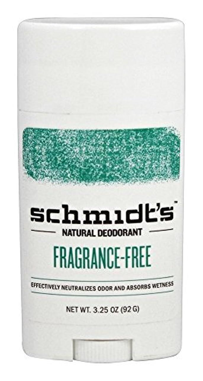 打倒憤る副産物Schmidt's Natural Deodorant Stick Fragrance-Free 3.25 Oz [並行輸入品]