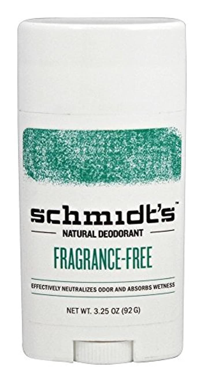 肌寒いレンチメタンSchmidt's Natural Deodorant Stick Fragrance-Free 3.25 Oz [並行輸入品]