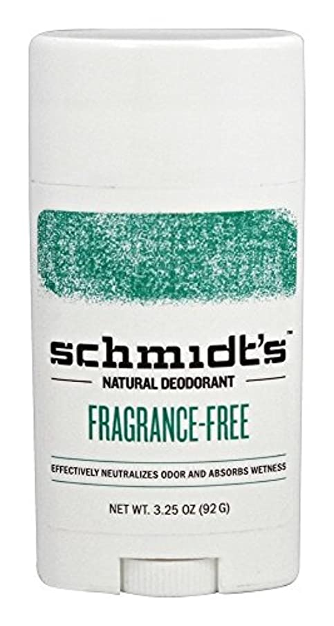 魅力的であることへのアピール推進落ち込んでいるSchmidt's Natural Deodorant Stick Fragrance-Free 3.25 Oz [並行輸入品]