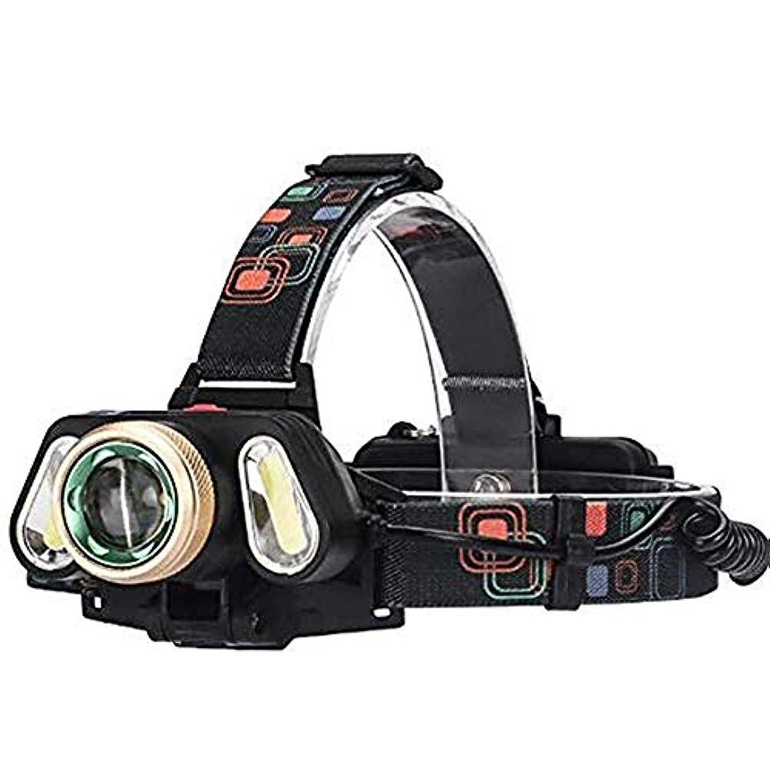 動力学不当興奮ハンディライト ヘッド懐中電燈、導かれたまぶしさの回転ズームレンズの穂軸3のヘッド屋外の長期照明充電狩猟釣りに適した充電ヘッドトーチ