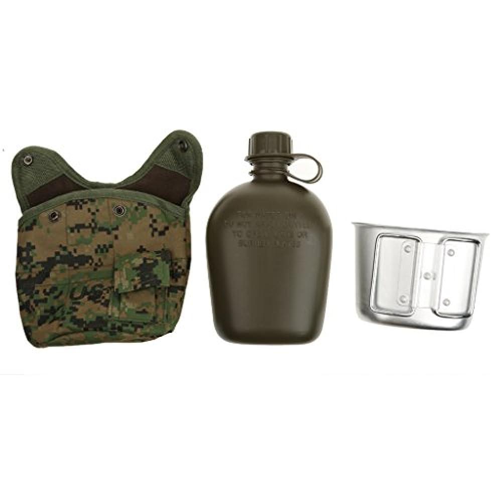 結果過半数例外5色 屋外 軍事 キャンプ 軍 水筒 カップ ポーチ