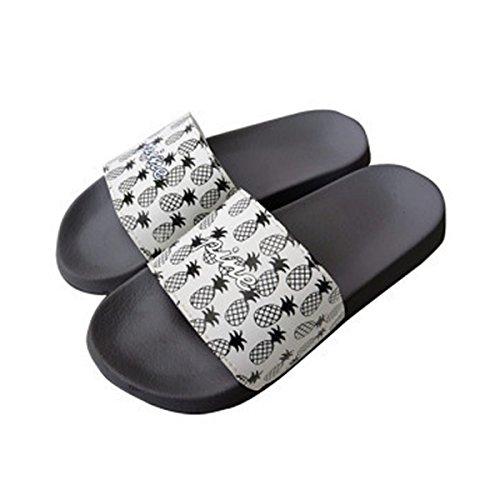 [hanahana] スポーツサンダル メンズ レディースサイズ シャワーサンダル ビーチサンダル メンズ 痛くない 歩きやすい おしゃれ 星柄 スター レディースM(23-23.5cm) PINE-ブラック