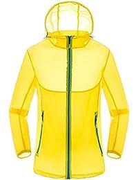 chenshiba-JP メンズ夏の太陽保護ジャケット軽量屋外フードジャケット 1 XXS