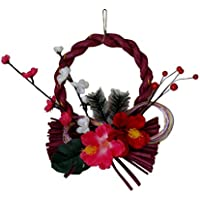 お正月 しめ飾り しめ縄 リース 洋風 おしゃれ 玄関飾り 手づくり ハワイアン ハイビスカス